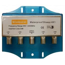 Коммутатор Diseq-C 4x1 WinQuest в кожухе